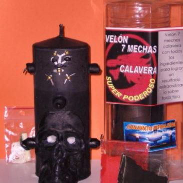 PODEROSO VELÓN 7 MECHAS CALAVERA